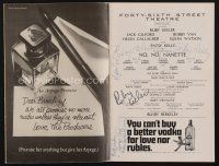 9w042 NO, NO, NANETTE signed playbill '71 by Ruby Keeler, Patsy Kelly, and two others!
