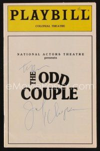 9w043 ODD COUPLE signed playbill '94 by BOTH Tony Randall AND Jack Klugman!