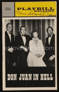 9w044 PAUL HENREID signed playbill '73 when he appeared on stage in Don Juan in Hell!