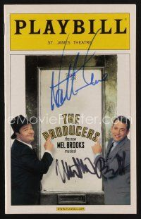 9w045 PRODUCERS signed playbill '04 by BOTH Nathan Lane AND Matthew Broderick!