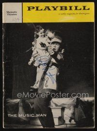 9w046 ROBERT PRESTON signed playbill '59 when he appeared on stage in The Music Man!