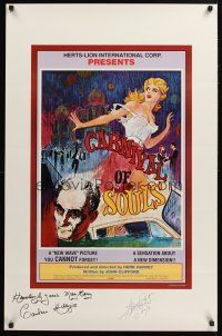 9w052 CARNIVAL OF SOULS signed special 24x37 R90 by BOTH Candace Hilligoss AND Sidney Berger!