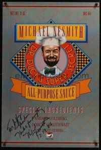 9w049 DOCTOR DUCK'S SUPER SECRET ALL-PURPOSE SAUCE signed 24x36 video poster '86 by Michael Nesmith