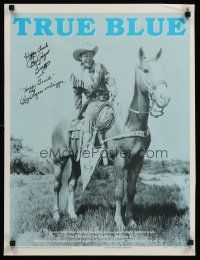 9w048 ROY ROGERS INSPIRATIONAL 2-sided signed 19x25 poster '93 by Roy Rogers, he signed for Trigger!