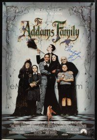 9w055 ADDAMS FAMILY signed 1sh '91 by Christopher Lloyd, who was Uncle Fester!