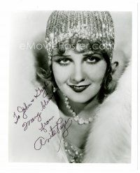 9z231 ANITA PAGE signed 8x10 REPRO still '80s glamorous portrait wearing fur & cool jewelry!