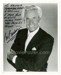 9z236 BOB BARKER signed 8x10 REPRO still '80s great smiling portrait of the Price is Right host!