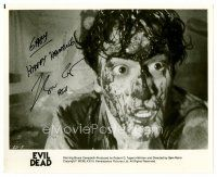 9z237 BRUCE CAMPBELL signed 8x10 still '80s gory close up covered in blood from Evil Dead!
