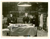 9z243 ELIZABETH RUSSELL signed 8x10 REPRO still '80s with Bela Lugosi from The Corpse Vanishes!