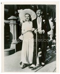 9z247 FRED ASTAIRE signed 8x9.75 REPRO still '80s full-length with Judy Garland from Easter Parade!