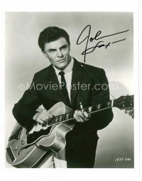 9z258 JOHN SAXON signed 8x10 REPRO still '80s young close portrait playing guitar!