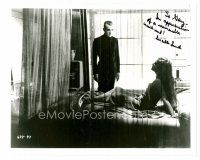 9z264 LUCILLE LUND signed 8x10 REPRO still '80s with Boris Karloff from The Black Cat!