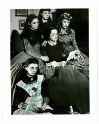 9z265 MARGARET O'BRIEN signed 8x10 REPRO still '80s as Beth with her co-stars from Little Women!