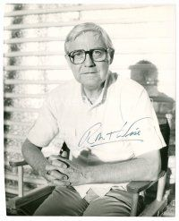 9z282 ROBERT WISE signed 8x10 REPRO still '80s great image of the director sitting in his chair!