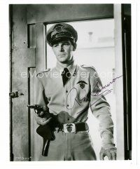 9z283 ROD CAMERON signed 8x10 REPRO still '80s cool portrait in officer's uniform pointing gun!