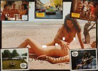 9z009 LOT OF 23 GERMAN SEXPLOITATION LOBBY CARDS '73 - '77 lots of super sexy images!