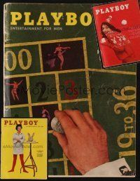 9z027 LOT OF 3 PLAYBOY MAGAZINES '58 - '61 see what men looked at before the Internet!