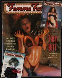 9z032 LOT OF 3 FEMME FATALES MAGAZINES '92-93 tons of sexy images of scream queens!