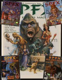 9z033 LOT OF 5 SPFX MAGAZINES '97-00 packed with heavily illustrated stories about special fx!