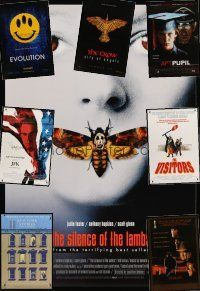 9z047 LOT OF 27 UNFOLDED ONE-SHEETS '86 - '01 Silence of the Lambs, Unforgiven, JFK + more!