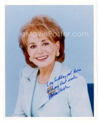9z234 BARBARA WALTERS signed color 8x10 REPRO still '90s wonderful head & shoulders portrait!