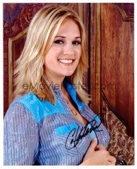 9z240 CARRIE UNDERWOOD signed color 8x10 REPRO still '07 great c/u of the American Idol winner!