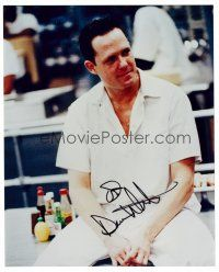 9z242 DEAN WINTERS signed color 8x10 REPRO still '00s great seated portrait of the television actor!