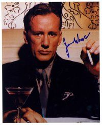 9z253 JAMES WOODS signed color 8x10 REPRO still '00 c/u sitting at table with cigarette in hand!