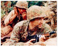 9z273 NICHOLAS CAGE signed color 8x10 REPRO still '03 c/u as a soldier wearing full camoflauge!