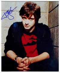 9z285 TOPHER GRACE signed color 8x10 REPRO still '01 great close portrait with hands clasped!