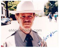 9z286 WILLIAM H. MACY signed color 8x10 REPRO still '02 great portrait wearing sheriff uniform!