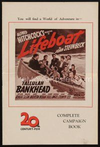 9z193 LIFEBOAT English pressbook '43 Alfred Hitchcock, John Steinbeck, contains cool star profiles!