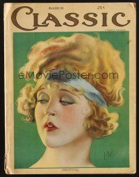 9z069 CLASSIC MAGAZINE magazine March 1923 headshot artwork of pretty Mae Murray by E. Dahl!