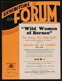 9z067 EXHIBITORS FORUM exhibitor magazine May 5, 1932 The Blonde Captive & her primitive mate!