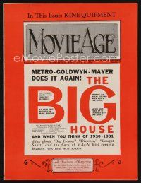 9z066 MOVIE AGE exhibitor magazine July 8, 1930 MGM does it again with The Big House!