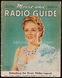 9z079 MOVIE & RADIO GUIDE magazine April 13, 1940 Alice Faye as she will appear in Lillian Russell