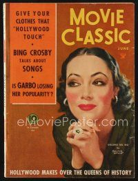 9z081 MOVIE CLASSIC magazine June 1934 art of pretty Dolores Del Rio by Marland Stone!