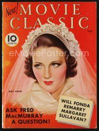 9z082 MOVIE CLASSIC magazine June 1936 art of pretty bride Ruby Keeler by Charles Sheldon!