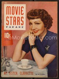 9z088 MOVIE STARS PARADE magazine August 1941 Claudette Colbert story by her brother!