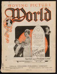 9z062 MOVING PICTURE WORLD exhibitor magazine April 9, 1921 Fairbanks, Chaplin + lots more!
