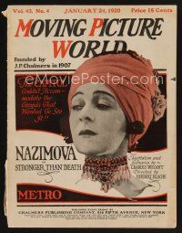 9z059 MOVING PICTURE WORLD exhibitor magazine Jan 24, 1920 Chapiln in Tillie's Punctured Romance!