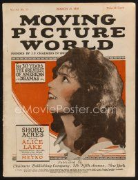 9z060 MOVING PICTURE WORLD exhibitor magazine March 20, 1920 two von Stroheims, Jack Dempsey+more!