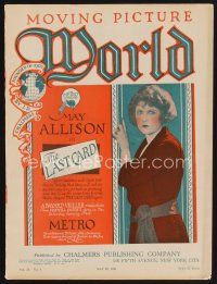 9z063 MOVING PICTURE WORLD exhibitor magazine May 28, 1921 bound in cover for Motion Picture Classic