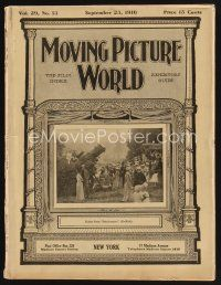 9z054 MOVING PICTURE WORLD exhibitor magazine Sept 23, 1916 incredible art for Shielding Shadow!