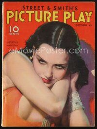 9z096 PICTURE PLAY magazine October 1931 sexiest art of Lupe Velez by Modest Stein!