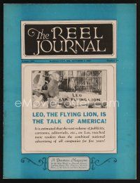 9z064 REEL JOURNAL exhibitor magazine October 1, 1927 Leo the MGM flying lion!