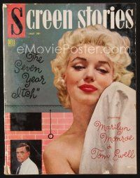 9z102 SCREEN STORIES magazine July 1955 sexy naked Marilyn Monroe & Ewell in The Seven Year Itch!