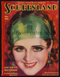 9z103 SCREENLAND magazine May 1930 great art of pretty smiling Billie Dove by Rolf Armstrong!