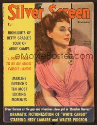 9z106 SILVER SCREEN magazine December 1942 great close portrait of sexy Paulette Goddard!