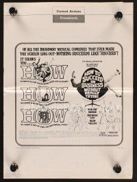 9z174 HOW TO SUCCEED IN BUSINESS WITHOUT REALLY TRYING pressbook '67 musical comedy!